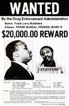 Frank Matthews Wanted Poster
