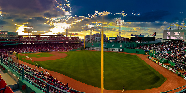 Cool Panaromic Fenway Park Pictures